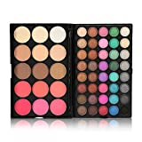 Maquillaje de ojos Natural Colors High Pigment Eye Shadow, 40Colors Eyeshadow + 15Colors Blusher & Concealer Palette Facial Eye Cosmetic Makeup Kit