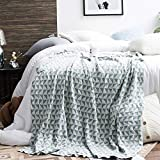 FEE-ZC Warm Home Modern - Manta de algodón para sofá, mantel, sillón, tapiz, manta, cálida y ligera, 130 y 180 cm, azul