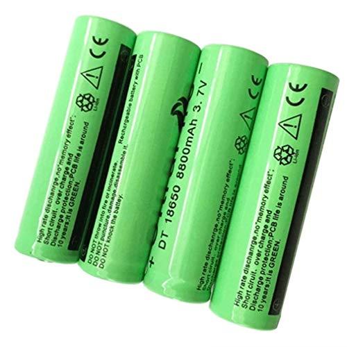 18650 Batería recargable de iones de litio 3.7V 8800MAH Gran capacidad Universal Seguro Práctico para linterna LED, iluminación de emergencia, dispositivos electrónicos, etc. (verde)