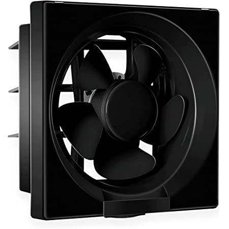 Luminous Vento Deluxe 200 mm Exhaust Fan for Kitchen, Bathroom, and Office (Cut-out Size - Sq 242 x 242 mm, Black)