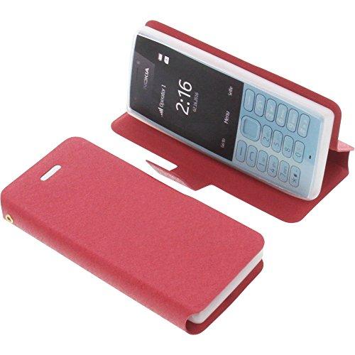 foto-kontor Tasche für Nokia 216 Book Style rot Schutz Hülle Buch