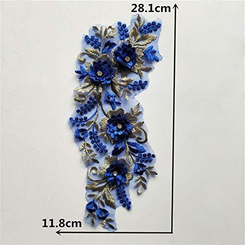 DACCU Mode Blume Spitze Stoff Stickerei Spitze Kragen Trim Ausschnitt Nähapplikation DIY Kleidung Handwerk Dekoration Zubehör, YL1361
