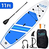 TUSY 11FT Inflatable Stand Up Paddle Board with SUP Accessories Travel...