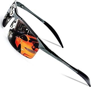 MEWAY Men's Fashion Driving Polarized Sunglasses for Men UV Protection Al-Mg Metal Frame Ultra Light