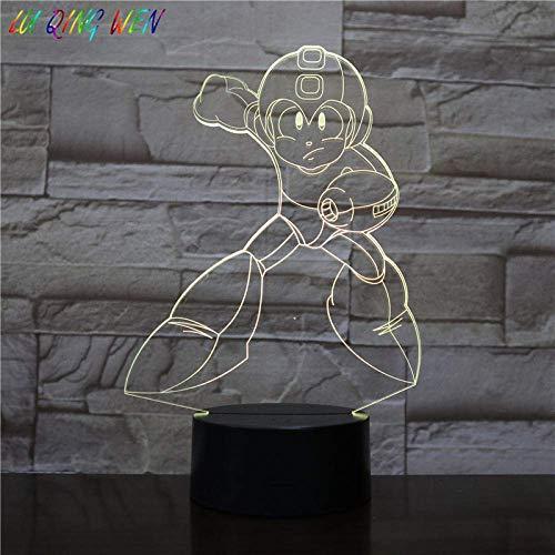 3DMagische LaterneFührteNachtlicht Kinderhaus Dekoration Touch Sensor Schlafzimmer Atmosphäre Kinder Superman Spiel Tischlampe