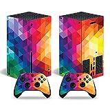 ZXJ Para Xbox One S Slim Skin, Cartoon Skin Sticker Cover para Xbox Series X Console y 2 controladores para Skin Sticker Vinyl,Orange