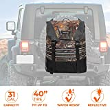 Spare Tire Trash Bag Camo, JoyTutus Upgraded Fits 40' Tire 31 Gallons Overland Series Larger Capacity Spare Tire Storage Bag for 4x4 Off-Road Camping Recovery Gear Firewood for Wrangler JK JKU JL