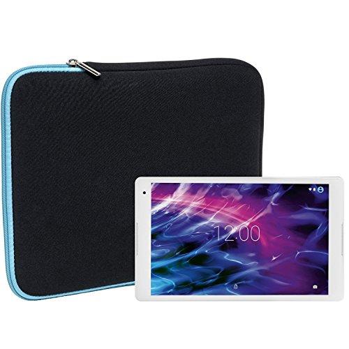 Slabo Tablet Tasche Schutzhülle für Medion Lifetab P10506 (MD 60036) Hülle Etui Case Phablet aus Neopren – TÜRKIS/SCHWARZ