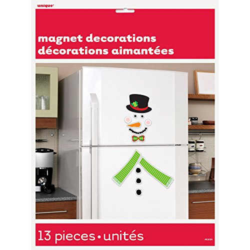 Snowman Holiday Refrigerator Magnet Decoration, 13pc