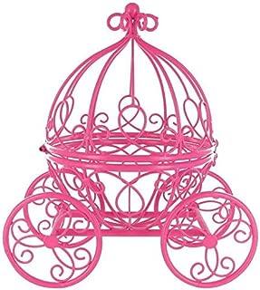 Hot Pink Princess Carriage Metal Table Top Decor