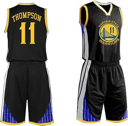 Maillot de Basketball pour Hommes 11 VêteHommests de Basket-Ball Klay Thompson oren State Warriors (XS-XXL)  C'est Un Vrai Maillot