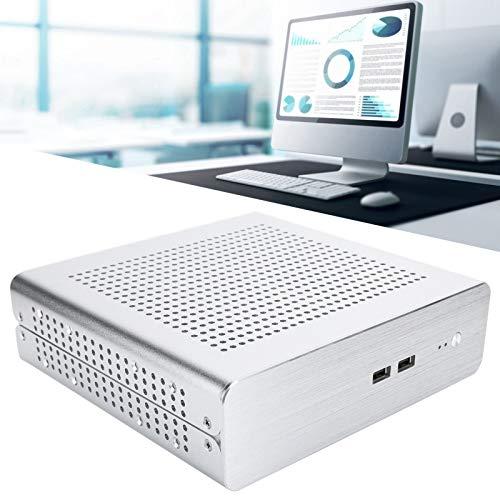 Faviu Accesorio para computadora de Escritorio, Carcasa de Aluminio para computadora de Escritorio para computadoras de Hotel(Silver, USB3.0)