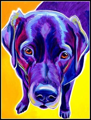 DIY 5D Diamant Schilderij Kit Blauw Lelijke Hond Cross Stitch Home Decoratie Diamant Borduren Mozaïek Kunst 15,7 × 19,7 Inch