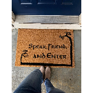 Lord Of The Rings Doormat Speak friend and Enter Doormat | Etsy