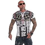 Yakuza Herren Sick Nippon V02 T-Shirt, Weiß, XL