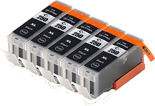 Blake Printing Supply 5 Big Black Compatible Ink Cartridges for Pixma iP7220, iX6820, iP8720, MG5420, MG5422, MG5520, MG5522, MG5620, MG6320,MG6420, MG6620, MG7120, MG7520 MX722, MX922