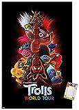 Trends International DreamWorks Trolls 2 - One Sheet Wall Poster, 22.375' x 34', Poster & Mount Bundle