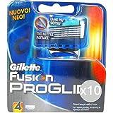 Juego de 10 recambios Gillette Fusion Proglide X4 afeitadora para el rostro y el cuerpo