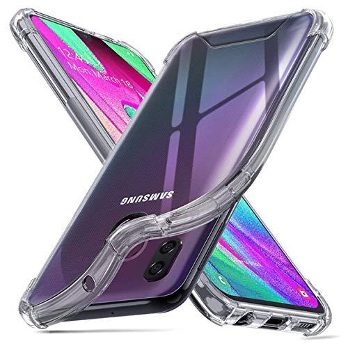 NewTop Cover Compatibile per Samsung Galaxy A40, Posteriore Semi Rigida TPU Hard Clear Anti-Shock Custodia Antiurto Protettiva Trasparente Angoli Rinforzati