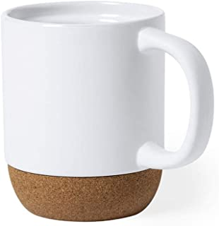FUN FAN LINE - Lot de tasses en céramique avec une base en liège naturel, présentées dans une boîte individuelle éco-conçu...