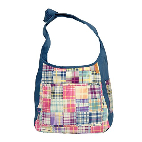 Donna Sharp Debbie Crossbody in Madras - Perfect Hobo Bag For On the Go