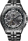 [シチズン] 腕時計 アテッサ Eco-Drive エコ・ドライブ電波時計 ブラックチタンシリーズ ダブルダイレクトフライト AT9097-54E メンズ