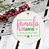 Lplpol Kamala Is My Herority Sister Biden Harris Election Ornament, adorno demócrata, adorno electoral, adorno presidente