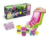 Canal Toys 036-Gioco Creativo So Asst Slime 3 Shaker Che Si Illumina al Buio e Cambia, Colore Blu, Rosa, SSC 036