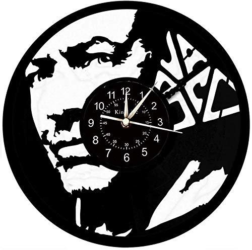 Leileixiao Reloj del Disco de Vinilo de la Pared, decoración de la Pared de Vasco Rossi Gran Reloj, Reloj de Pared Creativo del Regalo Hecho a Mano.