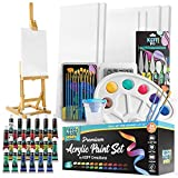 Complete Acrylic Paint Kit- 54 Piece Keff Creations Professional Artist Painting Supplies Set, Art Painting, 24 Acrylic...