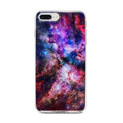 Obbii Case for iPhone 7 Plus/ 8 Plus/6 Plus/6S Plus Outer Space Galaxy Shockproof Slim TPU Flexible Soft Silicone Protective Durable Cover Case Compatible with iPhone 7 Plus/8 Plus/6/6S Plus(5.5')