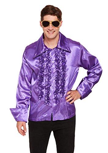 Henbrandt Adult Disco Shirt Lila Kostüm