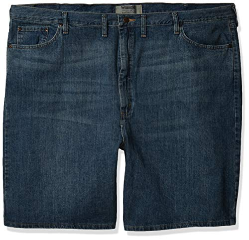 Wrangler Authentics Men's Classic Relaxed Fit Five Pocket Jean Short, Maritime, 40