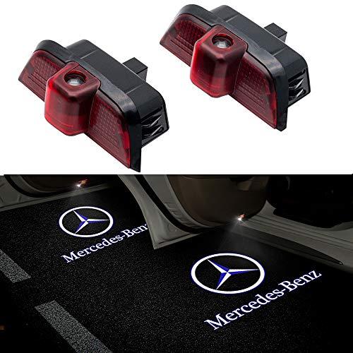 ZNYSTAR Car Lampe der lampe der Tür Ghost Shadow Willkommen Licht Einstiegsbeleuchtung Türbeleuchtung (Benz C logo)