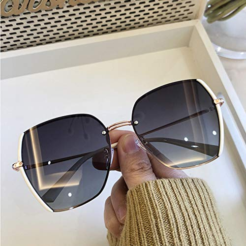 MEAOR Gafas de Sol polarizadas de Gran tamaño para Mujer, Gafas de Sol cuadradas para Mujer, Gafas de Sol Masculinas para Conducir