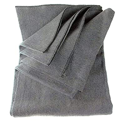 ASR Outdoor - 70 Percent Wool - 60 x 80 Gray Wool Blanket - 3lbs in Weight