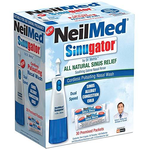 NeilMed Sinugator Cordless Pulsating Nasal Wash Kit with One...
