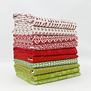 Christmas Fat Quarter Bundle (10 pcs) - Mixed Designers - Southern Fabric 18 x 21 inches (45.72cm x 53.34cm) fabric cuts DIY quilt fabric