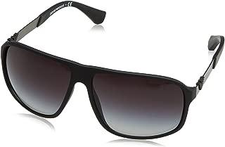 Emporio Armani Unisex-Yetişkin Güneş Gözlükleri 0EA 4029 50638G 64, BLACK FRAME GREY GRADIENT LENS, 0