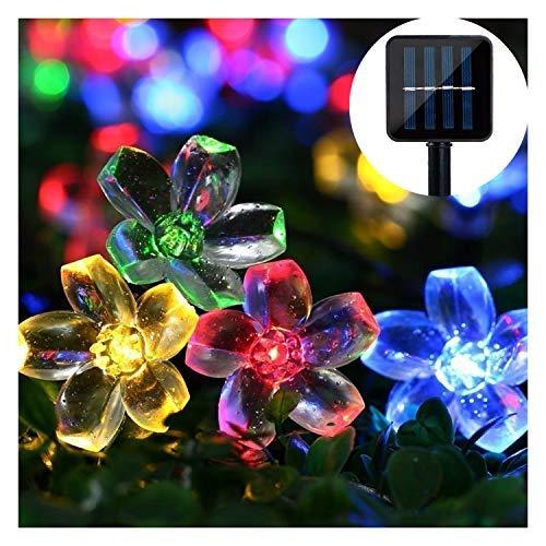 Solar Lichterkette,Mr.Twinklelight 6.5M 50er LED Solar Lichterkette Außen Blumen Garten Licht für Garten, Terrasse, Zuhause, Weihnachtsdeko und Partys (Mehrfarbig)