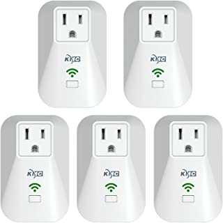 KMC WiFi Mini Smart Plug with Energy Monitoring and Schedule Timer Function, No Hub Required, Remote Control Light Switch Compatible with Alexa Echo and Google Assistant (5 Pack)