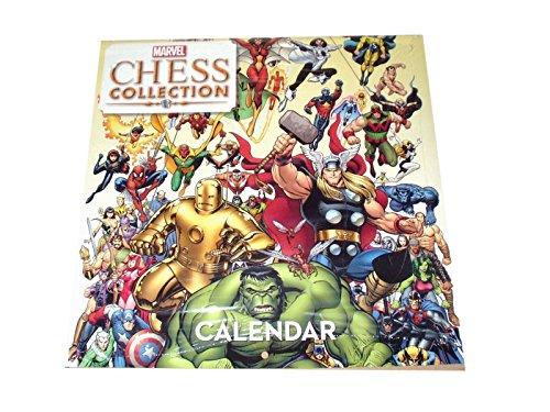 Eaglemoss Calendario PERPETUO Marvel Chess Collection 30X30cms UNA VIÑETA por Mes