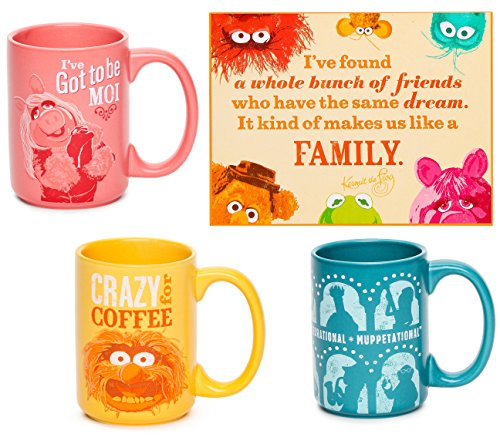 Hallmark The Muppets Kermit & Gang Plaque + Set of Coffee Mugs Featuring Miss Piggy / Animal & Muppetational Gang Silo 12 oz Drinking Cups