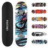 Skateboard Completo 79x20cm para Niñas Niños Adolescentes Adultos...