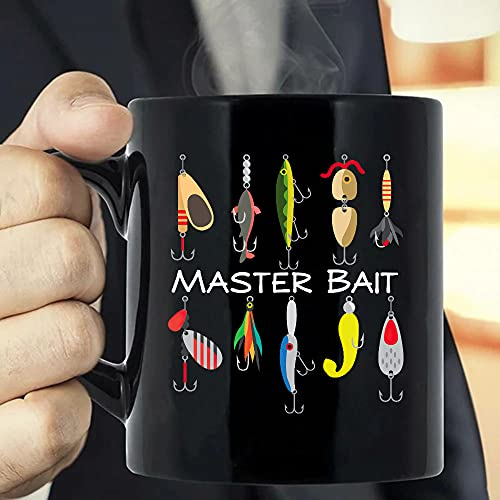 Situen Master Bait, Fishing Man, Fisher, Fishing Lover Coffee Mug - The Funny Coffee Mugs For Halloween, Holiday, Christmas Party Decoration 11-15 Ounce Cettire