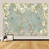 shuimanjinshan Blumen ins Wind Tapisserie kleine frische Hauptdekoration Hintergr& Stoff Wandbehang Schlafzimmer Nachttisch hängen Stoff 180(H) X230(B) cm