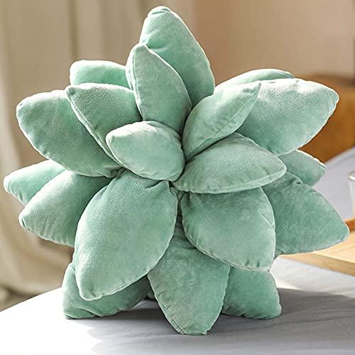 TIANBANGSHI Almohada suculenta, Linda Almohada de Cactus suculentas 3D, cojín de Planta de Felpa novedosa, Almohadas de Tiro suculentas decoración del hogar-c||45cm