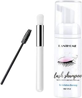 F Fityle Lash Shampoo, Eyelash Foam Cleaner, Remove Makeup Gentle Deep Cleansing and No Irritating or Burning for Eyelash ...