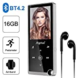 Lettore MP3 Bluetooth 16GB, Portatile Lossless Sound Lettore Musicale per Sport...