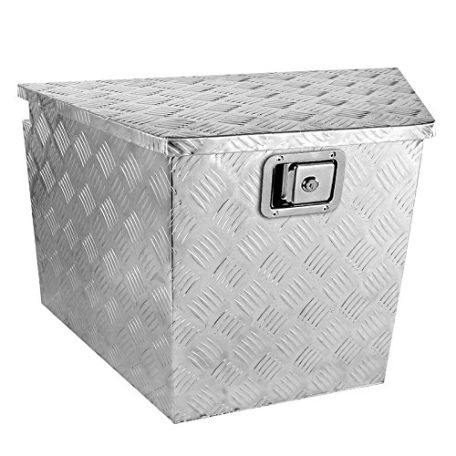 Spec-D Tuning Truck Pickup Aluminum Underbody Underbed Tongue Tool Box Trailer Storage + Lock